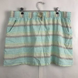Patagonia striped island hemp skirt